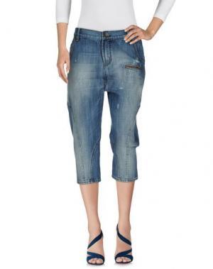 Джинсовые брюки-капри 2W2M. Цвет: синий