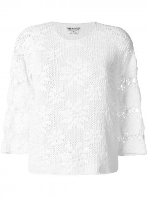 Вязаный свитер Comme Des Garçons. Цвет: белый