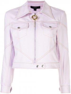 Приталенная куртка на молнии Ellery. Цвет: розовый
