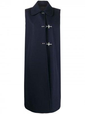 Дафлкот с длинными рукавами Fay. Цвет: синий
