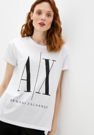 Футболка Armani Exchange ICON. Цвет: белый