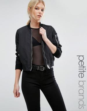 Контрастная куртка‑пилот Vero Moda Petite. Цвет: черный