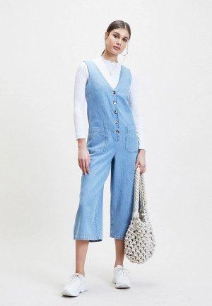 Комбинезон джинсовый Miss Selfridge. Цвет: синий