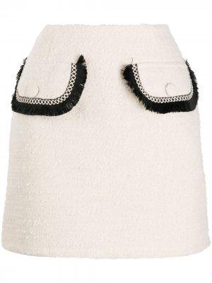 Юбка мини с карманами Blumarine. Цвет: нейтральные цвета