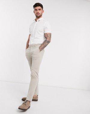 Белая облегающая рубашка с короткими рукавами New look-Белый Look