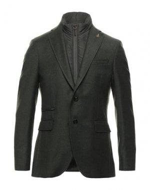 Пиджак PAOLONI. Цвет: темно-зеленый