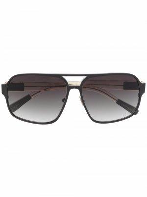 Солнцезащитные очки-авиаторы с эффектом градиента Linda Farrow. Цвет: черный
