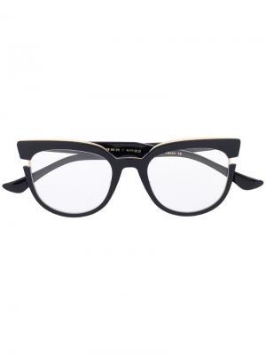 Очки в массивной оправе Dita Eyewear. Цвет: черный