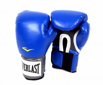 Перчатки тренировочные PU Pro Style, размер 14 oz Everlast. Цвет: синий