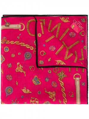 Платок с принтом Céline Pre-Owned. Цвет: розовый