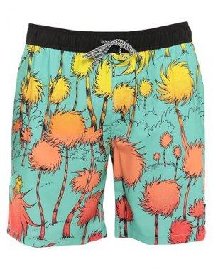 Пляжные брюки и шорты BILLABONG. Цвет: светло-зеленый