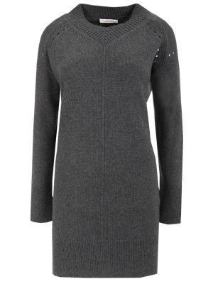 Удлиненный пуловер DOROTHEE SCHUMACHER. Цвет: серый