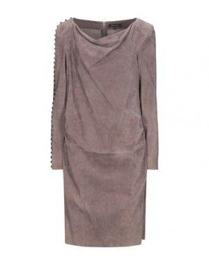 Платье до колена JITROIS. Цвет: светло-коричневый