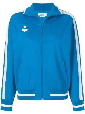 Куртка-бомбер с логотипом Isabel Marant Étoile. Цвет: синий