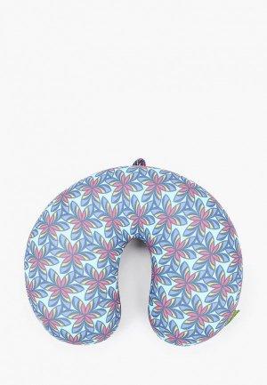 Подушка Gekoko для самолета. Цвет: бирюзовый