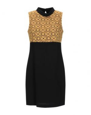 Короткое платье H2O ITALIA. Цвет: охра
