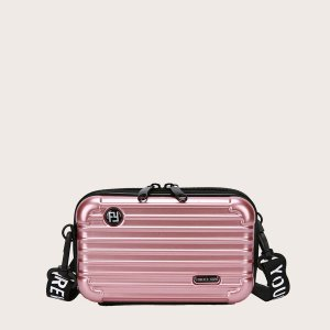 Сумка через плечо в форме чемодан для девочек SHEIN. Цвет: розовые