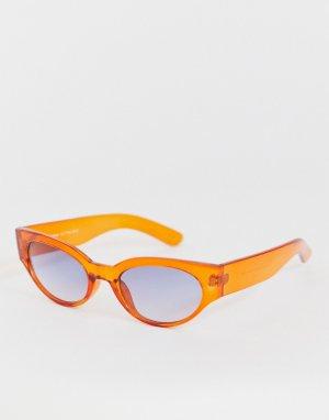 Оранжевые круглые солнцезащитные очки -Оранжевый AJ Morgan