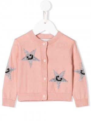 Трикотажный джемпер Stella McCartney Kids. Цвет: розовый