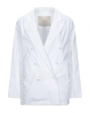 Пиджак JUCCA. Цвет: белый
