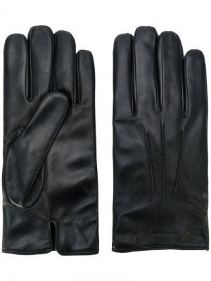 Классические перчатки Giorgio Armani. Цвет: черный