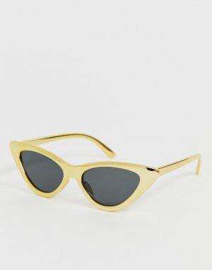 Желтые солнцезащитные очки \кошачий глаз\ -Желтый AJ Morgan