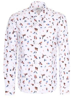 Рубашка Slim Fit с принтом KENZO