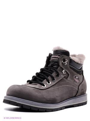 Ботинки FRIENDLY. Цвет: серый