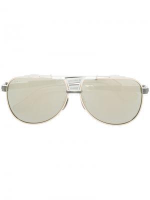 Aviator sunglasses Chrome Hearts. Цвет: металлический