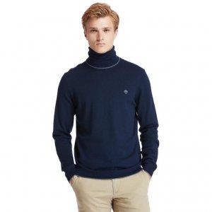 Свитера Contemporary Merino Turtle Sweater (Regular) Timberland. Цвет: темно-синий