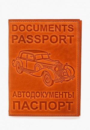 Обложка для документов Forte St.Petersburg. Цвет: оранжевый