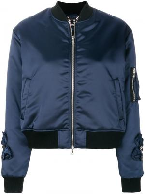 Куртка бомбер Markus Lupfer. Цвет: синий