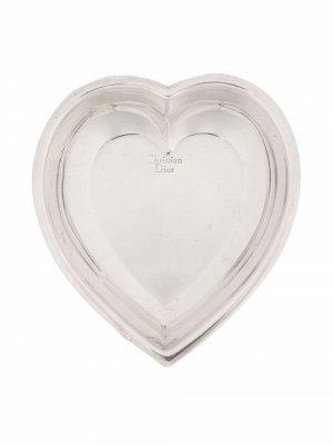 Поднос для мелочей 2000-х годов Christian Dior. Цвет: серебристый