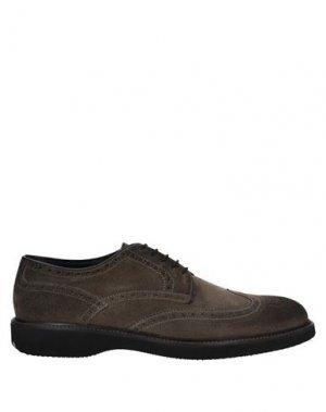 Обувь на шнурках ANGELO NARDELLI. Цвет: свинцово-серый