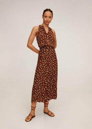 Миди-юбка с принтом - Bombay Mango. Цвет: коричневый