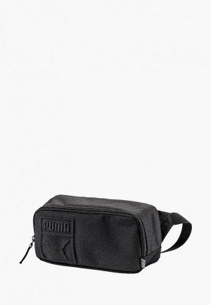 Сумка поясная PUMA S Waist Bag. Цвет: черный