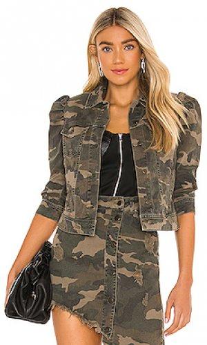 Джинсовая куртка ada retrofete. Цвет: green,brown