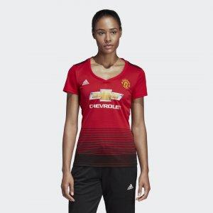 Домашняя игровая футболка Манчестер Юнайтед Performance adidas. Цвет: красный