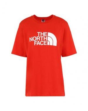 Футболка THE NORTH FACE. Цвет: красный