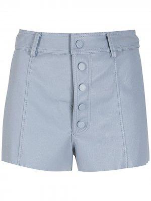 Кожаные шорты Brooke средней посадки Nk. Цвет: синий