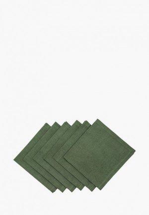Комплект салфеток сервировочных Семейные ценности Зеленый мох 40х40 см