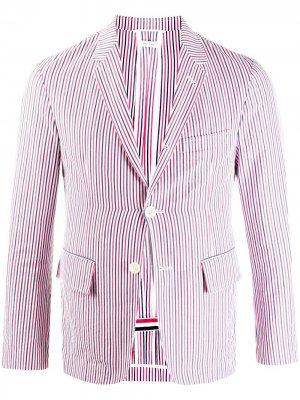 Пиджак с полосками RWB Thom Browne. Цвет: красный