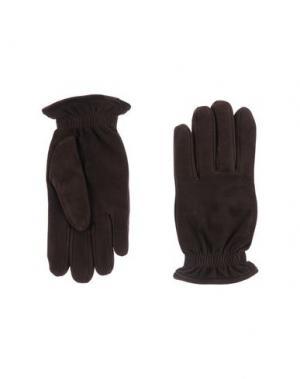 Перчатки ORCIANI. Цвет: темно-коричневый