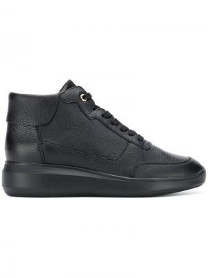 Wedge lace-up sneakers Geox. Цвет: черный
