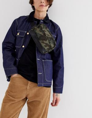 Сумка-кошелек на пояс с камуфляжным принтом -Зеленый New Look