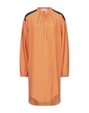 Платье до колена A.F.VANDEVORST. Цвет: оранжевый