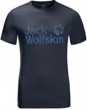 Футболка мужская Jack Wolfskin Brand Logo, размер 44. Цвет: синий