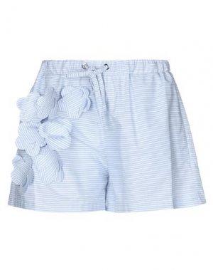 Повседневные шорты ATINSIGHT by ANDREA TURCHI. Цвет: небесно-голубой