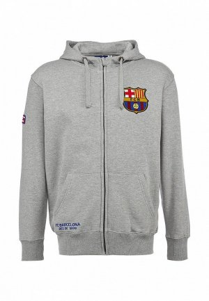 Толстовка Atributika & Club™ FC Barcelona FC001EMASB40. Цвет: серый