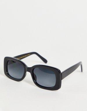 Черные квадратные солнцезащитные очки в стиле унисекс Salo-Черный цвет A.Kjaerbede